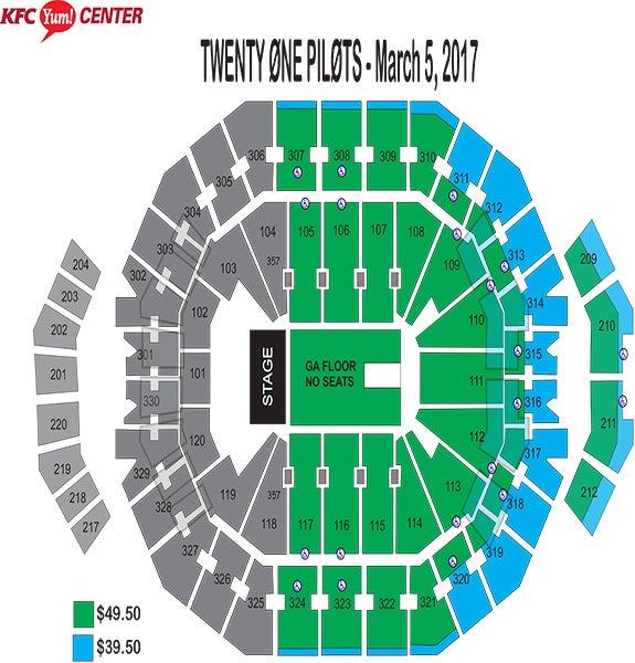 Twenty One Pilots Seating Chart