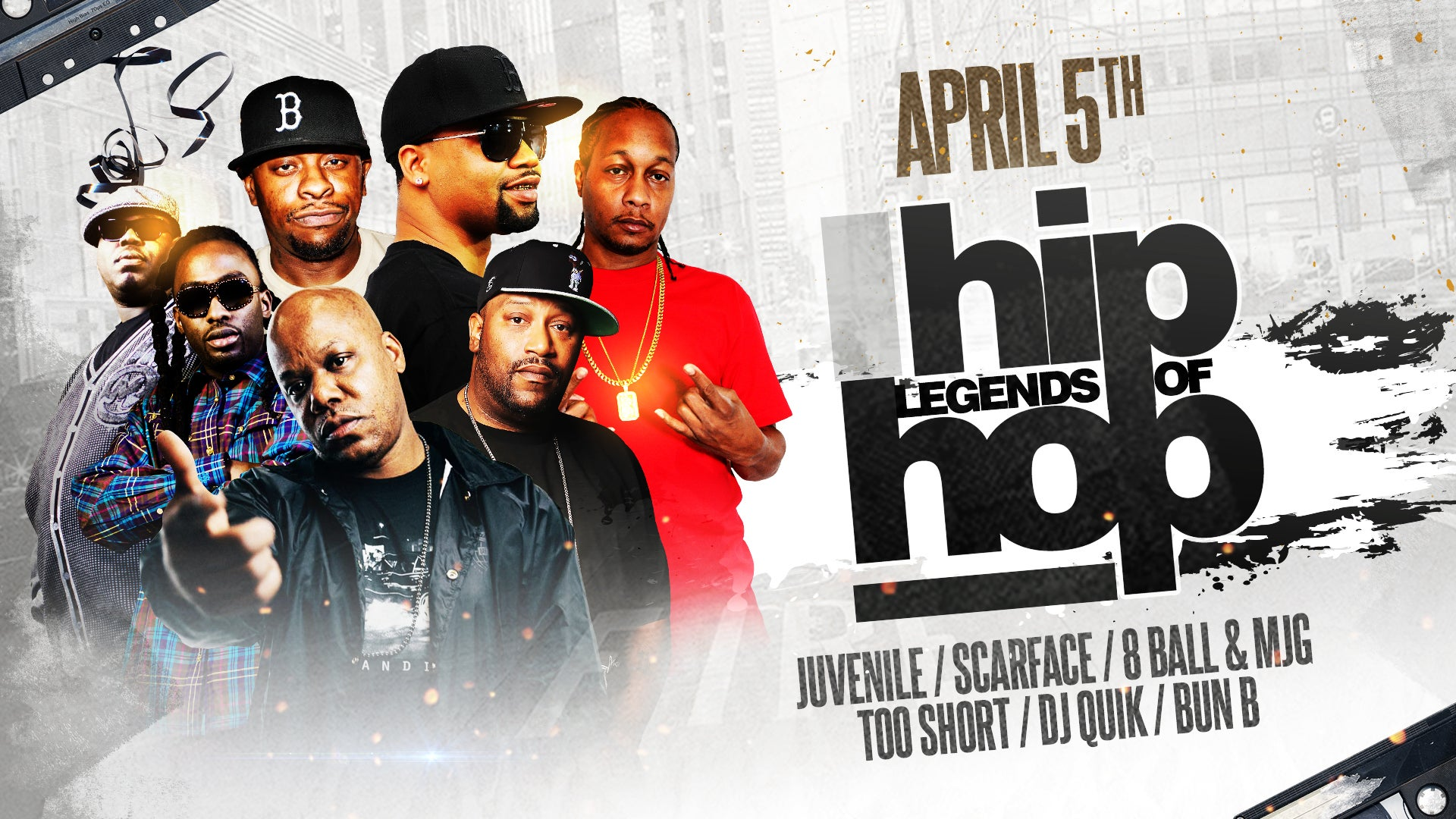 Legends of Hip Hop featuring Juvenile, Scarface, Too Short