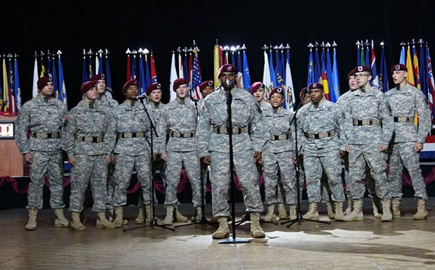 82nd airborne division all american chorus performance kfc yum center