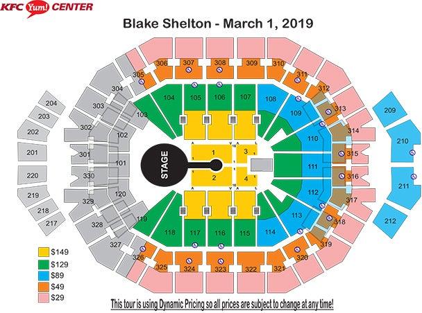 Blake shelton s friends and heroes 2019 kfc yum center