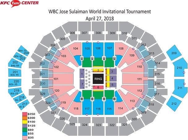 Yum Center Seating Chart Metallica - Jose sulaiman world ... on bill graham civic center, kentucky international convention center, kentucky exposition center, scottrade center,