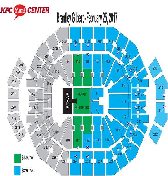 Brantley Gilbert Seating Chart