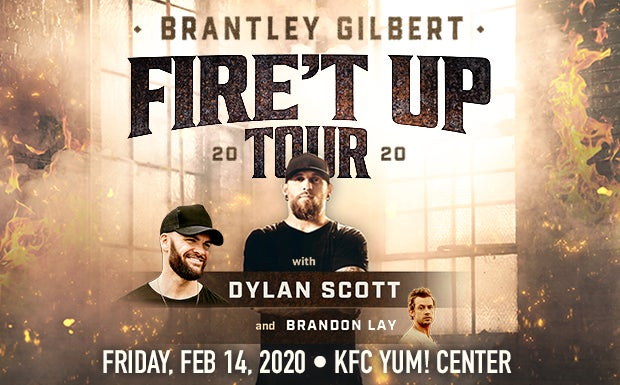 Brantley Gilbert Tour 2020.Brantley Gilbert Fire T Up 2020 Tour Kfc Yum Center