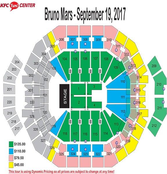 Bruno Mars Seating Chart