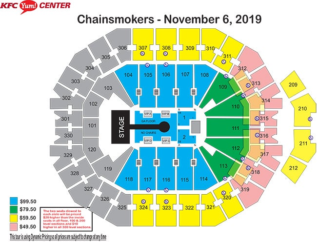 Chainsmokers Seating Chart