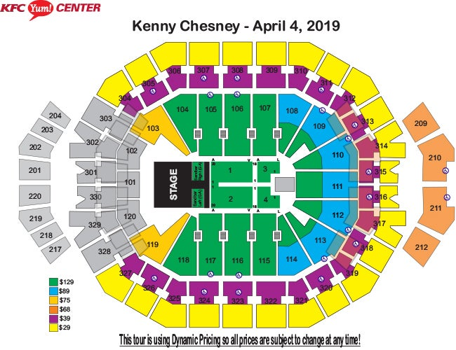 Kenny chesney songs for the saints 2019 tour kfc yum center