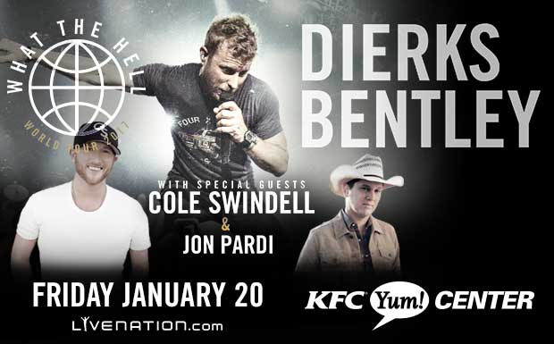 "dierks bentley ""what the hell world tour 2017"" 