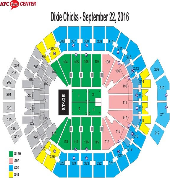 Dixie Chicks Seating Chart