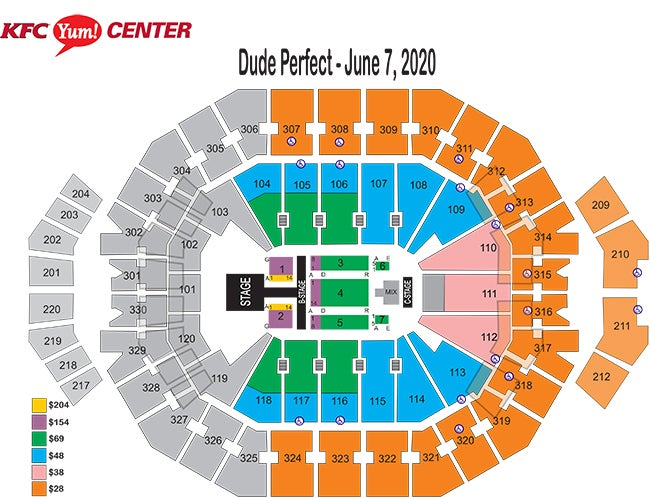 Dude Perfect Seating Chart