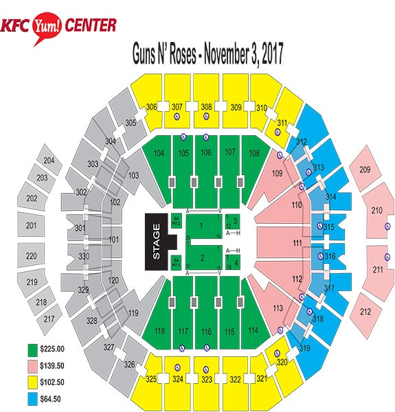 Seating Charts | Kfc Yum! Center