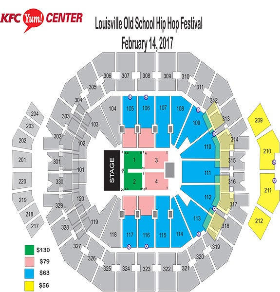 Louisville Old School Hip Hop Festival Seating Chart