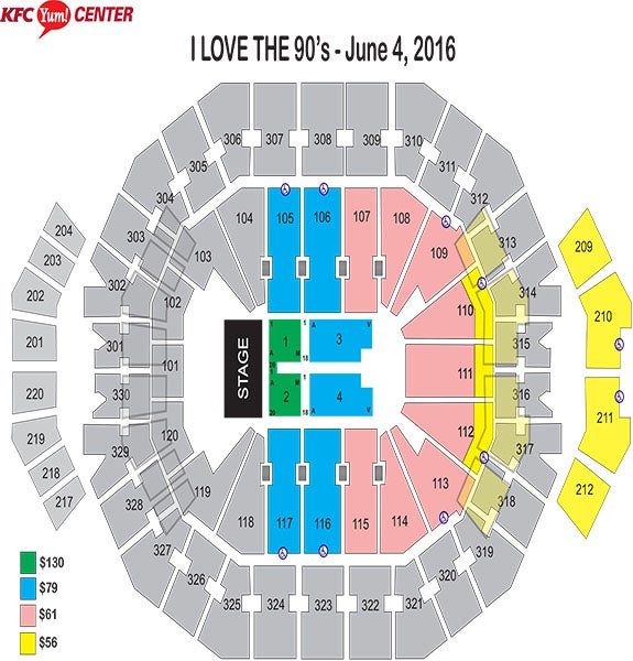 I Love the 90's Tour Seating Chart