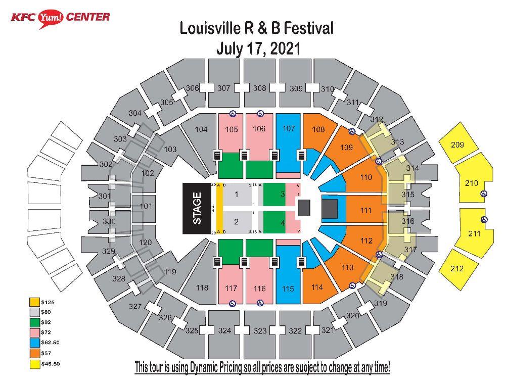 Louisville R&B Festival Map