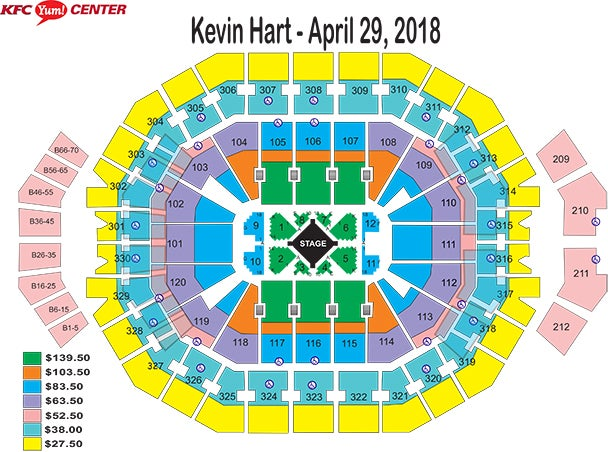 Kevin Hart The Irresponsible Tour Kfc Yum Center