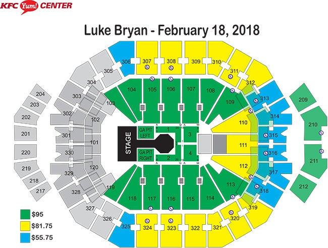 Luke bryan what makes you country tour kfc yum center