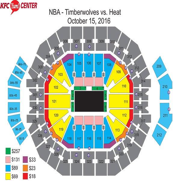 Nba Preseason Game Minnesota Timberwolves Vs Miami Heat Kfc Yum
