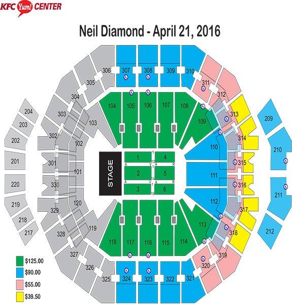 Neil Diamond Seating Chart
