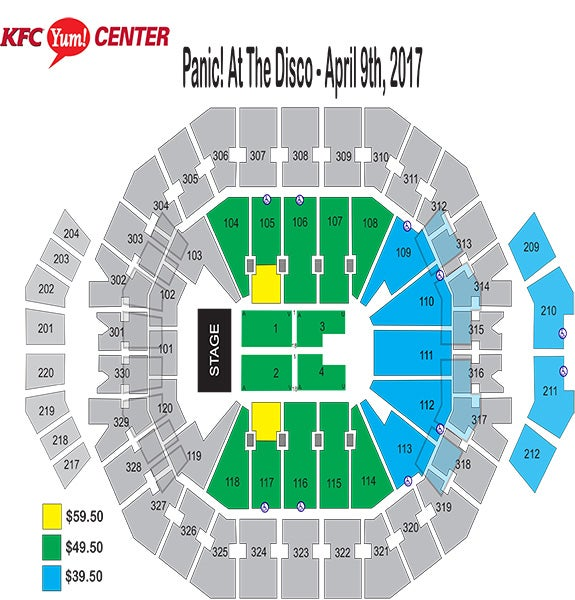 Panic! At The Disco Seating Chart