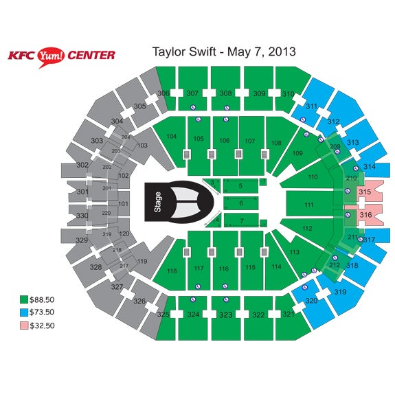 Taylor Swift The Red Tour Kfc Yum Center