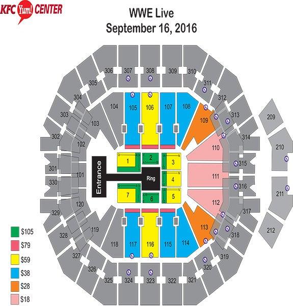 WWE Live Seating Chart